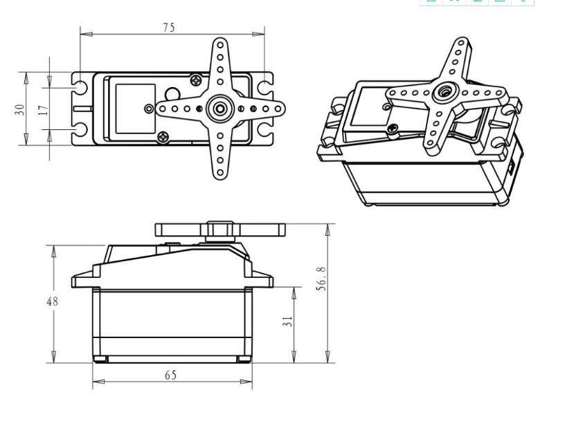 DS5160MG Su Geçirmez Servo Motor