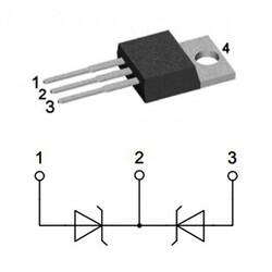 DSB60C60PB 2x30A 60V Schottky Diyot TO220AB - Thumbnail