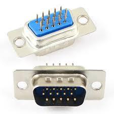 15 Pin 3 Sıra Lehim Tip Erkek D-Sub Konnektör