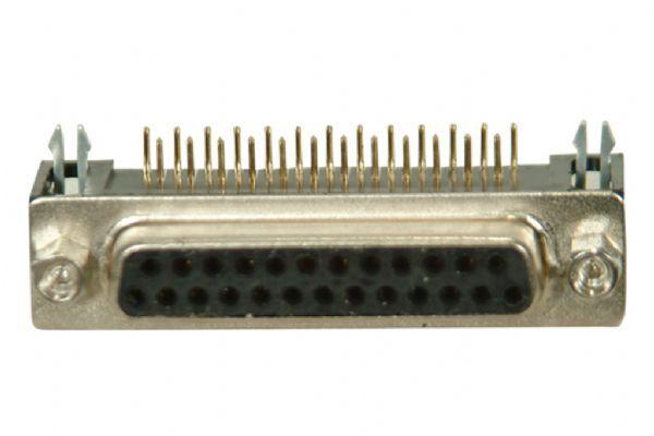 25-Pin 90° Dişi D-Sub Konnektör