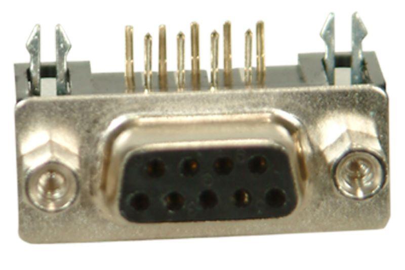 9-Pin 90° Dişi D-Sub Konnektör