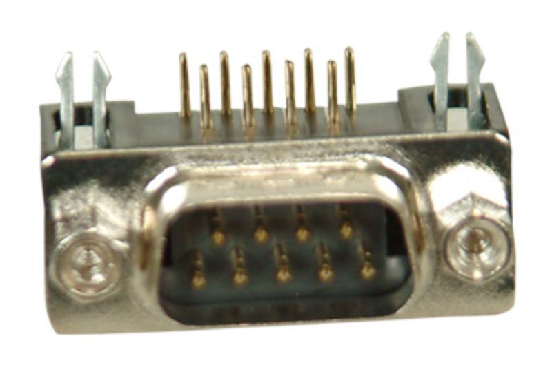 9-Pin 90° Erkek D-Sub Konnektör