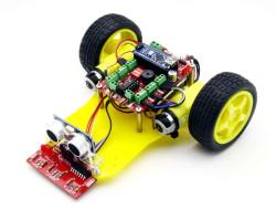 DuoBot Çizgi İzleyen ve Engelden Kaçan Robot (Montajı Yapılmış) - Thumbnail