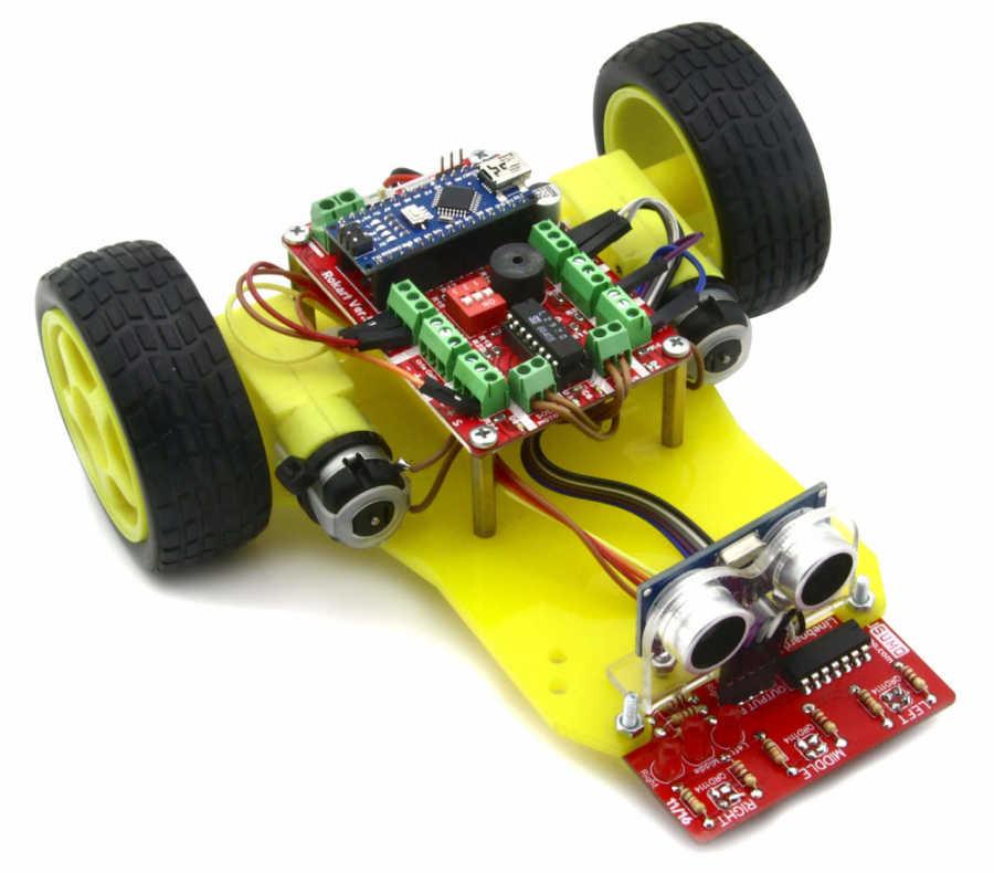 DuoBot Çizgi İzleyen ve Engelden Kaçan Robot (Montajı Yapılmış)