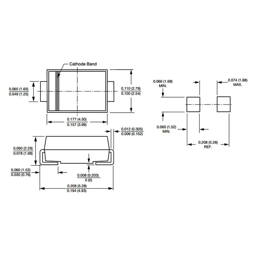 ES1D 1A 200V Hızlı Diyot Do214ac (Sma)