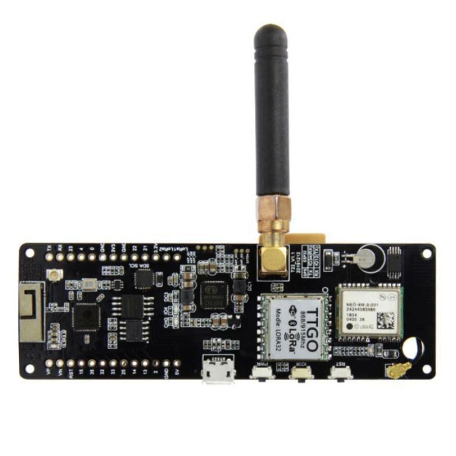 ESP32 868Mhz WiFi Bluetooth Modül / NEO-6M Sma / Oled / 18650 Pil Yuvalı