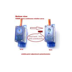 Feetech FS90R Sürekli Dönebilen Mikro Servo Motor - Pololu 2820 - Thumbnail