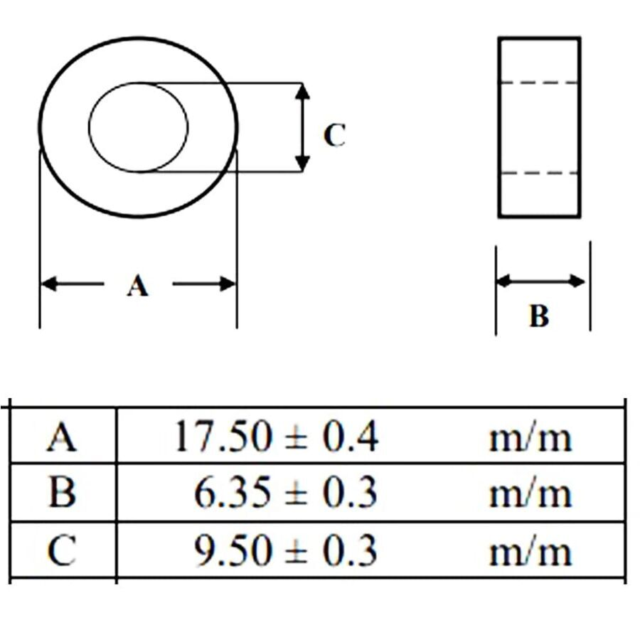 40R 100MHz Ferrit Toroid Ring Bobin 17.5X6.35mm