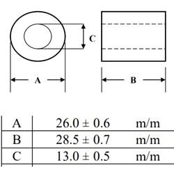 Ferrit Toroid Ring Bobin 175R 100MHz 26x28.5mm RH-26X28.5X13 - Thumbnail
