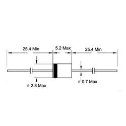 FR107-HT 1A 1000V THT Diyot DO41 - Thumbnail