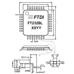 FT232BL SMD USB Arayüz Entegresi LQFP-32 - Thumbnail