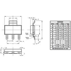 FZT653TA Npn Smd Transistör Sot223 - Thumbnail