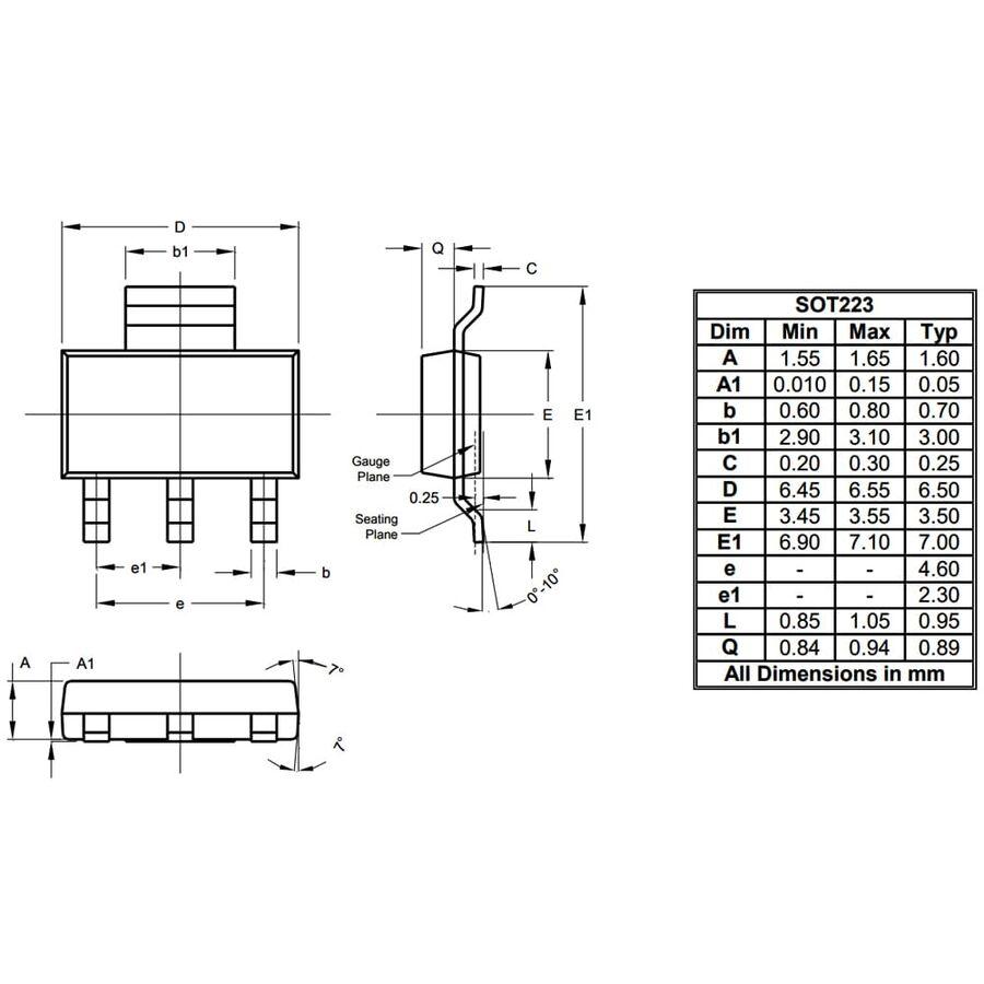 FZT951TA Pnp Smd Transistör Sot223