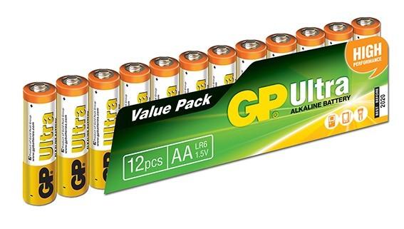 GP Ultra 1.5V AA LR6 Kalem Pil - 12′li Ekonomik Paket