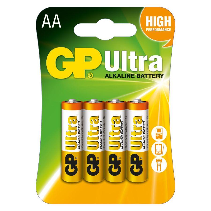 GP Ultra Alkalin Pil 1.5V AA Kalem Pil - 4 Adet