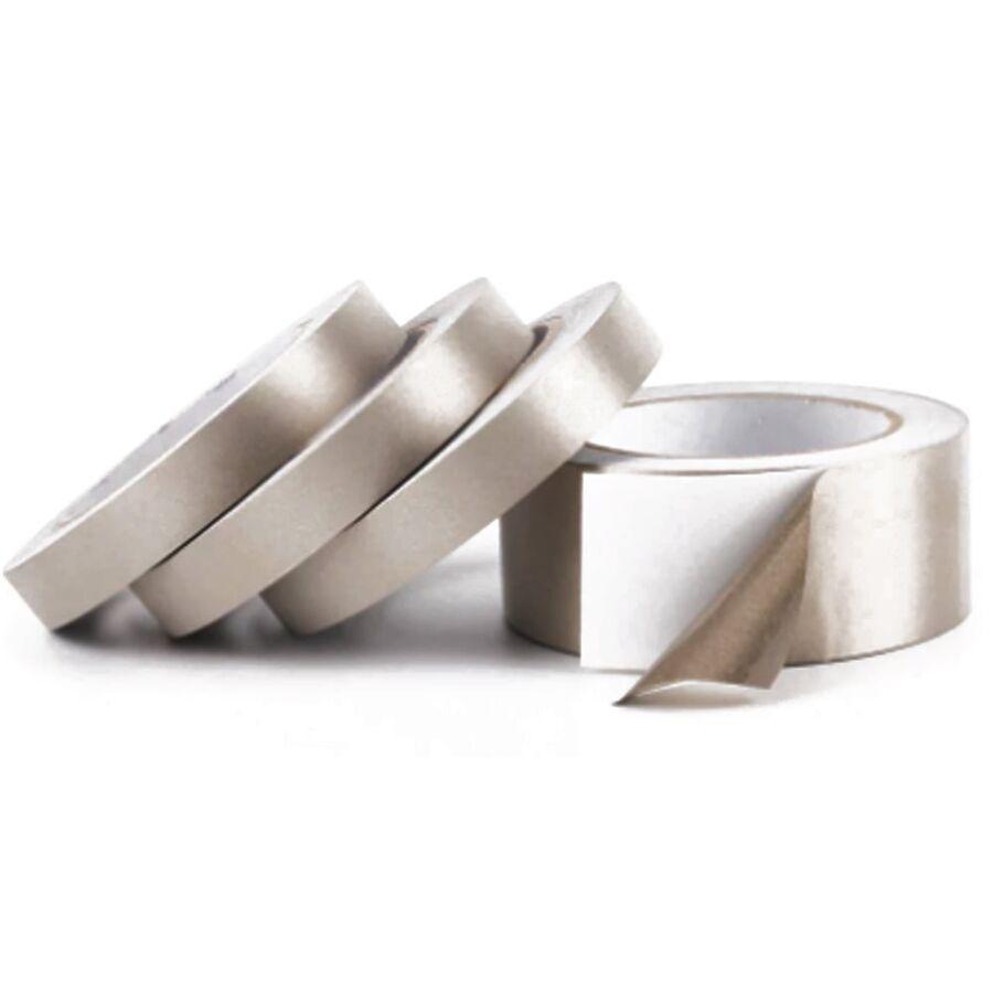 Gümüş İletken Gri Kumaş Bant 25mm