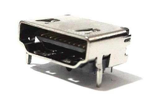 HDMI Soket 3Sıra 19 Pin Şase Monte 90 Derece
