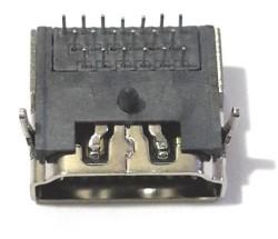 HDMI Soket 3Sıra 19 Pin Şase Monte 90 Derece - Thumbnail