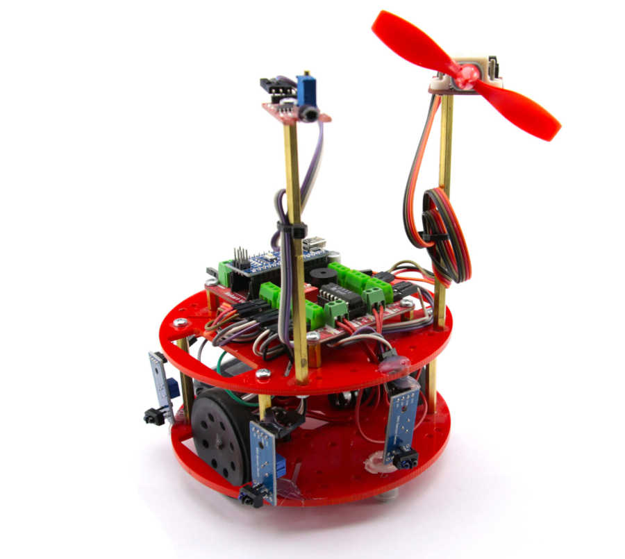 HERA Yangın Söndüren Robot Kiti (Montajı Yapılmış)