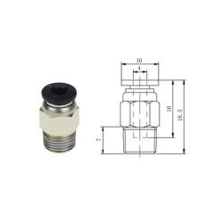 3D Printer Isıtıcı Uç - Hotend J-Head V6 Bağlayıcı Extruder 1.75mm - Thumbnail