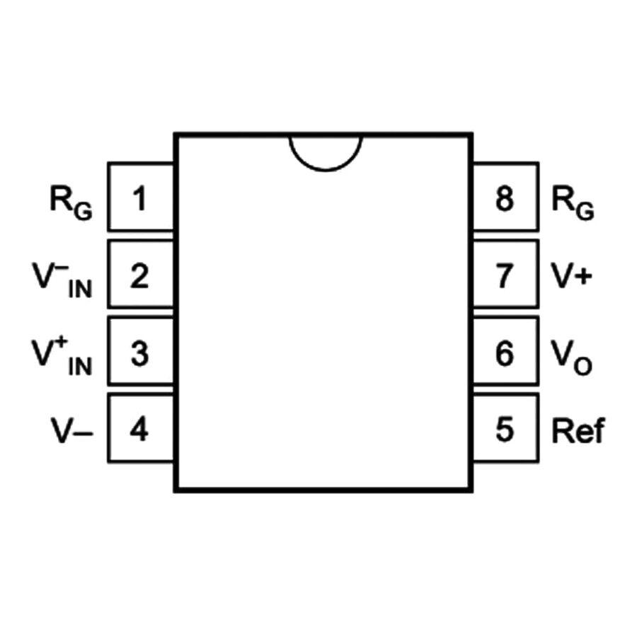 INA121P Enstrümantasyon Yükselteci Entegresi Dip-8