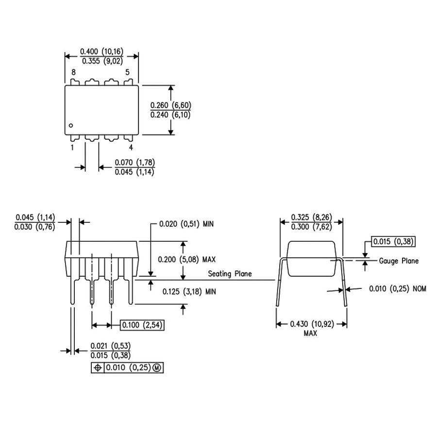 INA126 Enstrümantasyon Yükselteci Entegresi Dip-8
