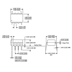 INA126 Enstrümantasyon Yükselteci Entegresi Dip-8 - Thumbnail