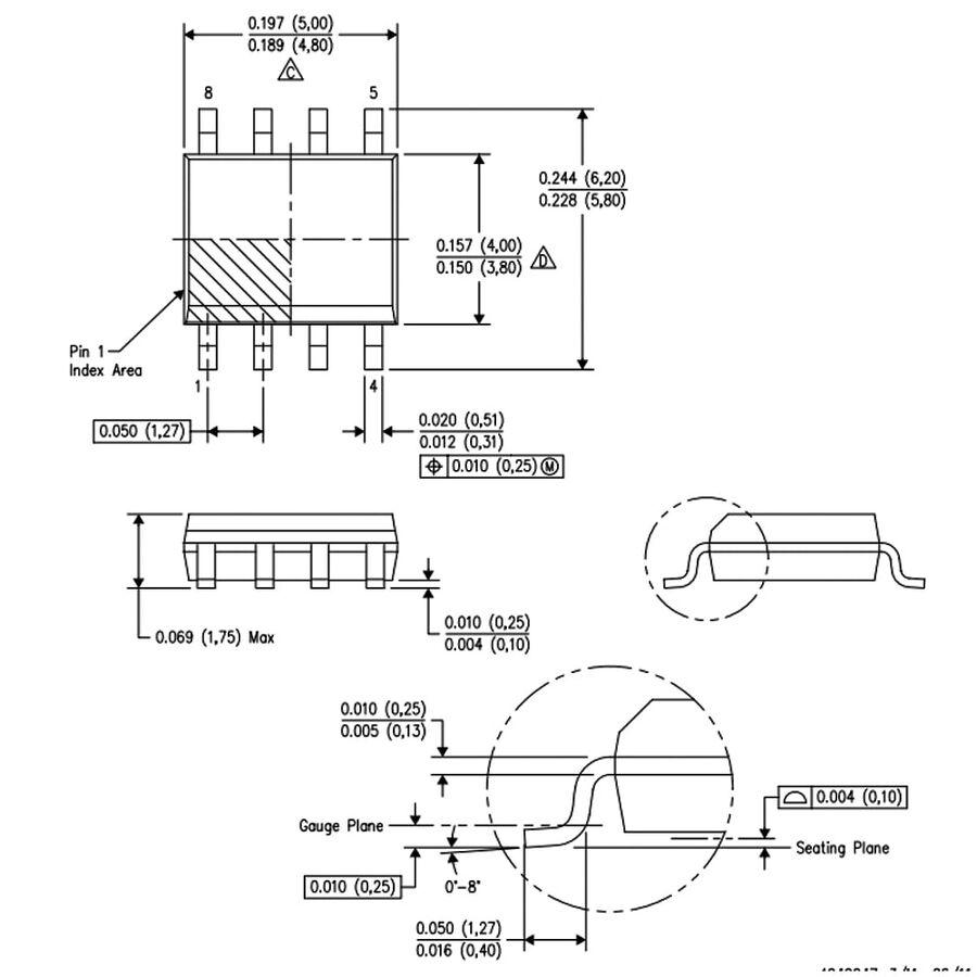 INA128 Smd Enstrümantasyon Yükselteci Entegresi Soic-8