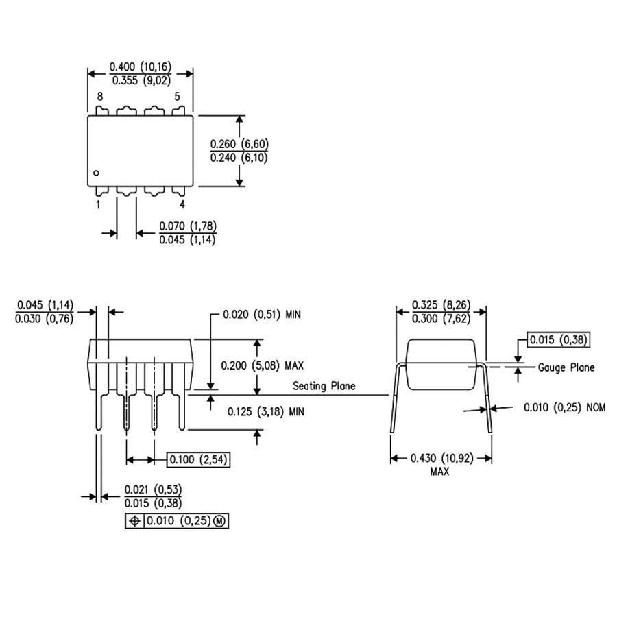 INA128P Enstrümantasyon Yükselteci Entegresi Dip-8