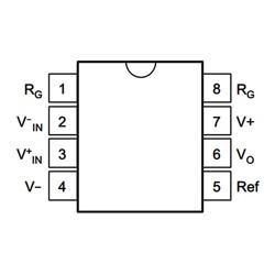 INA128P Enstrümantasyon Yükselteci Entegresi Dip-8 - Thumbnail
