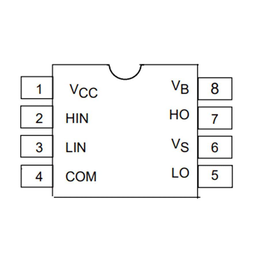 IR2106 Smd Mosfet Sürücü Entegresi Soic-8