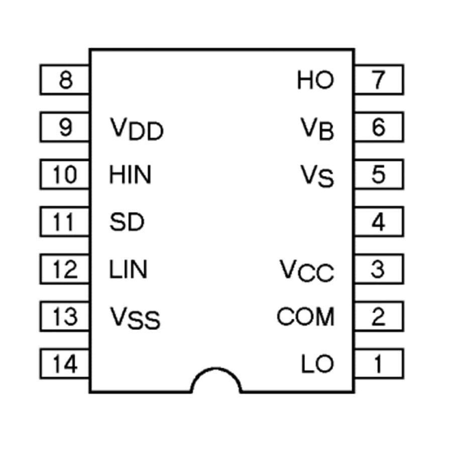 IR2112 Mosfet Sürücü Entegresi Dip-14