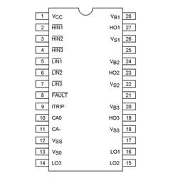 IR2132 3 Faz Mosfet Sürücü Entegresi Dip-28 - Thumbnail