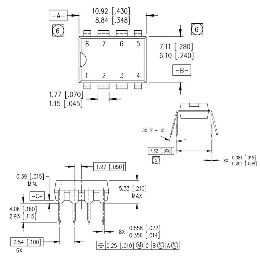 IR2153 Mosfet Sürücü Entegresi Dip-8