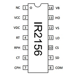 IR2156 Güç Kontrol Entegresi Dip-14 - Thumbnail