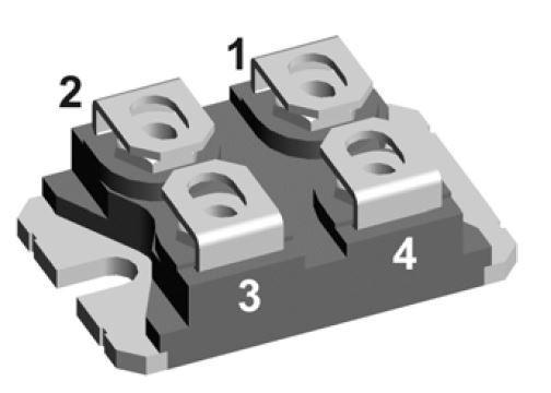 IXFN230N20T / 220A 200V N-CH SOT227B (Miniblock) Mosfet Modül