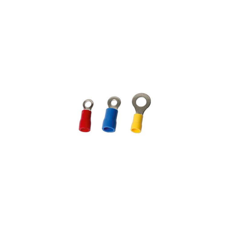 İzoleli Yuvarlak Tip Kablo Ucu M4 - Mavi - 20 Adet