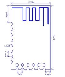 JDY-40 2.4G Kablosuz Seri Port İletim Ve Verici Entegre Uzaktan İletişim Modülü - Thumbnail
