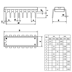 L293B Motor Sürücü Entegresi Dip-16 - Thumbnail