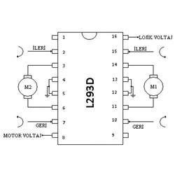 L293D Motor Sürücü Entegresi DIP-16 - Thumbnail