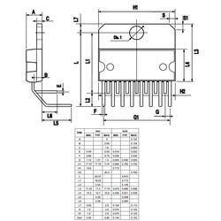 L298N Çift Tam Köprü Sürücü Entegresi Multiwatt15 - Thumbnail
