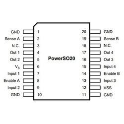 L298P SMD Motor Sürücü Entegresi PowerSO-20 - Thumbnail