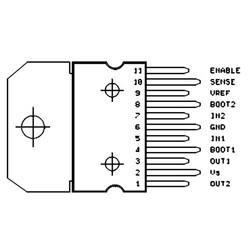 L6203 Dmos Tam Köprü Sürücü Entegresi Multiwatt11 - Thumbnail