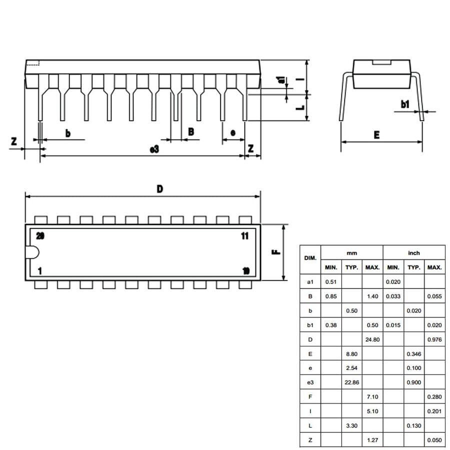 L6205N Motor Sürücü Entegresi Dip-20