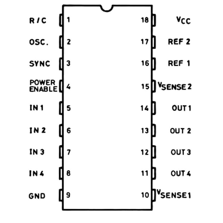 L6506 Motor Sürücü Entegresi Dip-18