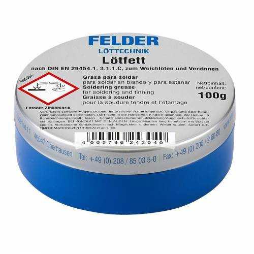 Lehim Pastası 100gram - Lötfett Felder