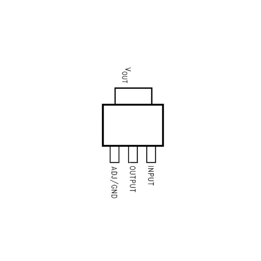 LM1117GS-ADJ-HTC 12V 1A Smd Voltaj Regülatör SOT223-3