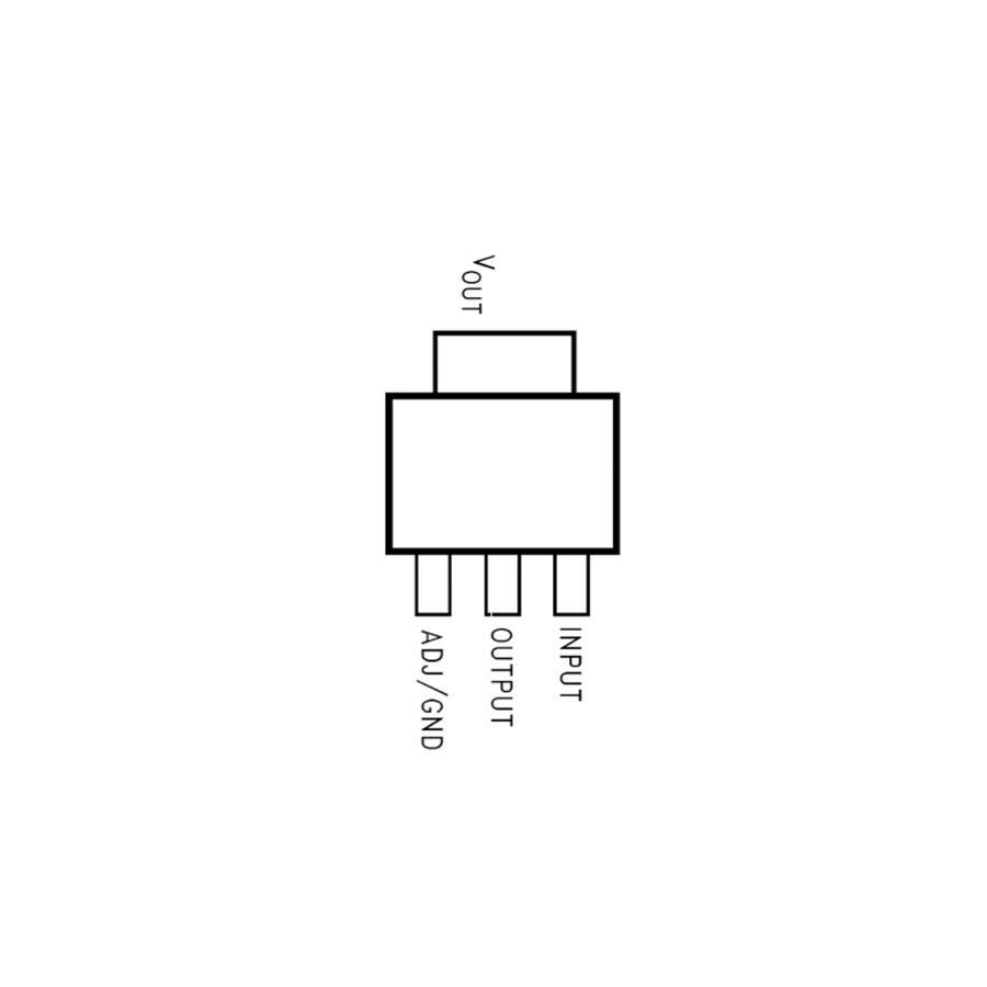 LM1117MPX 3.3V - Smd Sot223 - Voltaj Regülatörü
