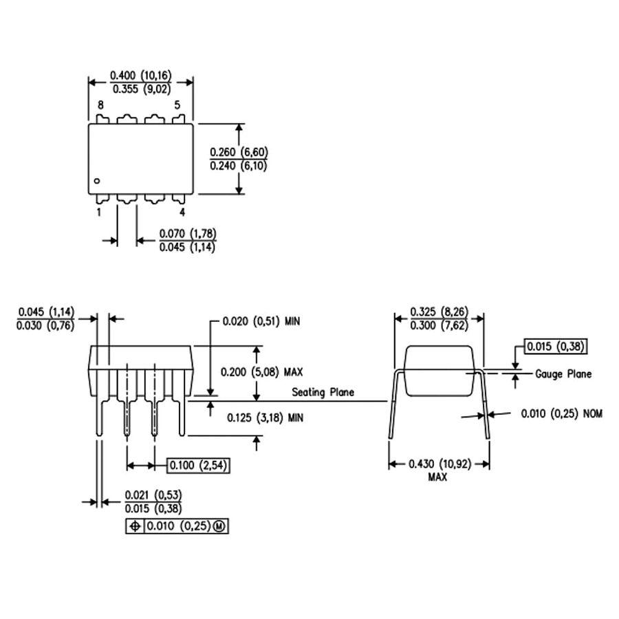 LM1458 OpAmp Entegresi Dip8