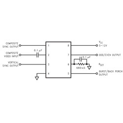 LM1881 Video Sync Ayıracı Entegresi Dip8 - Thumbnail